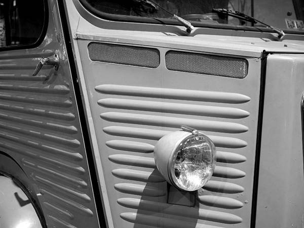 Photograph - Citroen H Van In Mono Study 2 by Richard Reeve