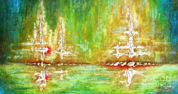 Painting - Citron Reflections by Kaata Mrachek