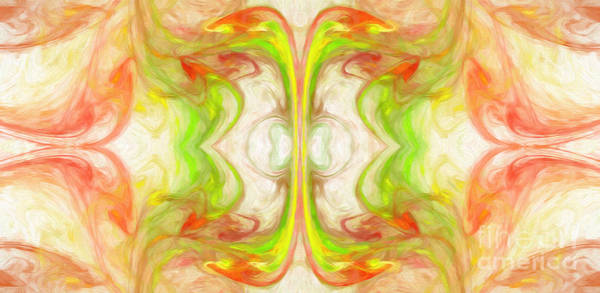 Digital Art - Citrus Delight Abstract Panorama 1 by Andee Design