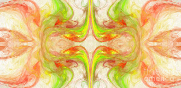 Digital Art - Citrus Delight Abstract Panorama 2 by Andee Design