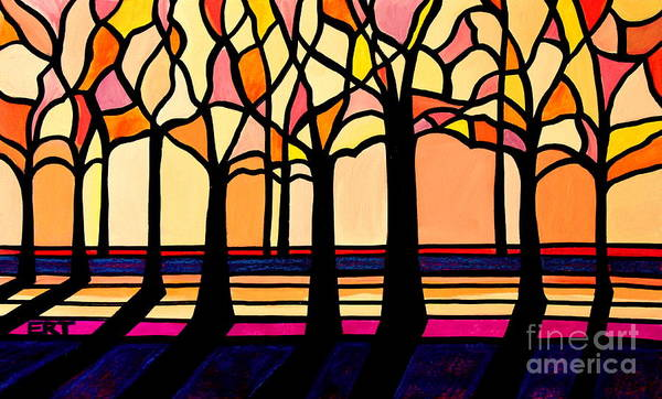 Painting - Citrus Glass Trees by Elizabeth Robinette Tyndall