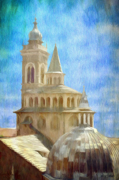 Wall Art - Painting - Citta Alta From Above by Jeffrey Kolker