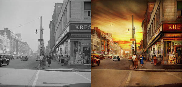 Photograph - City - Amsterdam Ny - The Lost City 1941 - Side By Side by Mike Savad