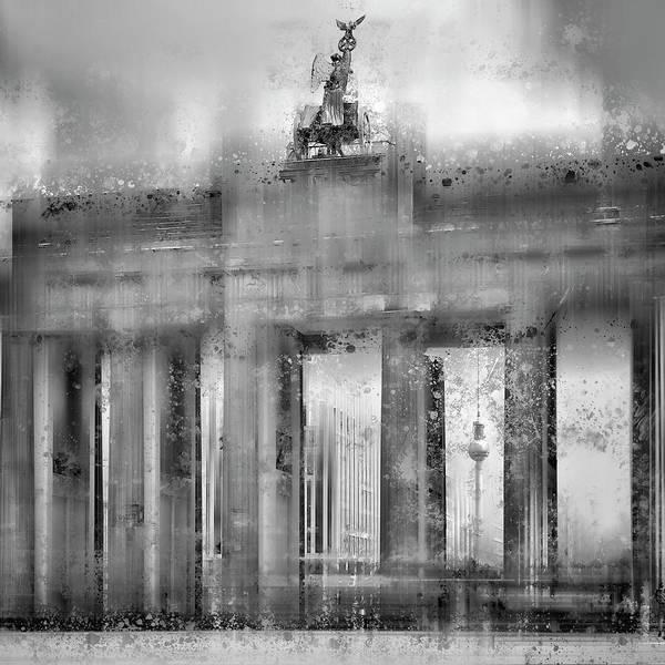Brandenburg Gate Photograph - City Art Berlin Brandenburg Gate Black And White by Melanie Viola