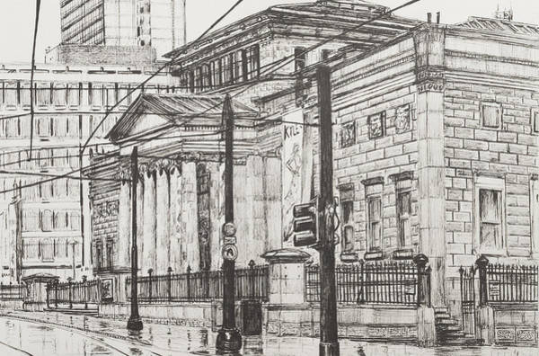 Manchester Drawing - City Art Gallery by Vincent Alexander Booth