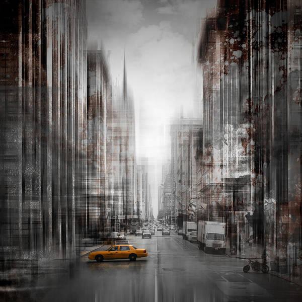 Town Square Wall Art - Photograph - City-art Nyc 5th Avenue by Melanie Viola