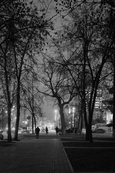 Photograph - City Street At Night by John Williams