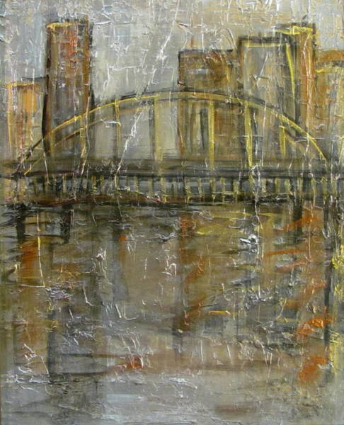 Painting - City Bridge by Anita Burgermeister