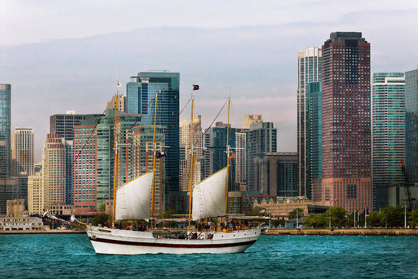 Photograph - City - Chicago - Cruising In Chicago by Mike Savad