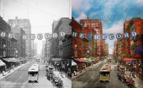 Photograph - City - Chicago Il - Just For The Record 1900 - Side By Side by Mike Savad
