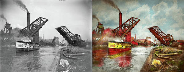 Photograph - City - Chicago Il - See The Sewers Of Chicago 1900 - Side By Side by Mike Savad