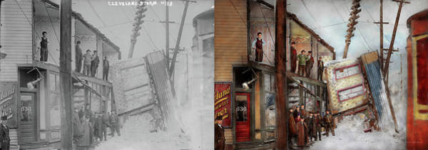 Photograph - City - Cleveland Oh - Open House 1913 - Side By Side by Mike Savad