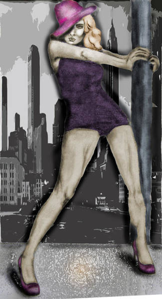 City Dancer Art Print by Samantha Kulchar