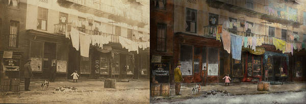Tenement Photograph - City - Elegant Apartments - 1912 - Side By Side by Mike Savad