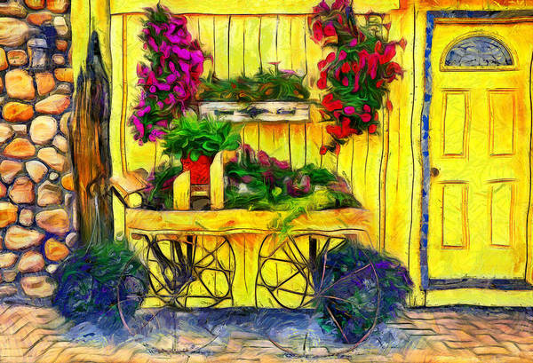 Painting - City Flower Cart by Dan Sproul