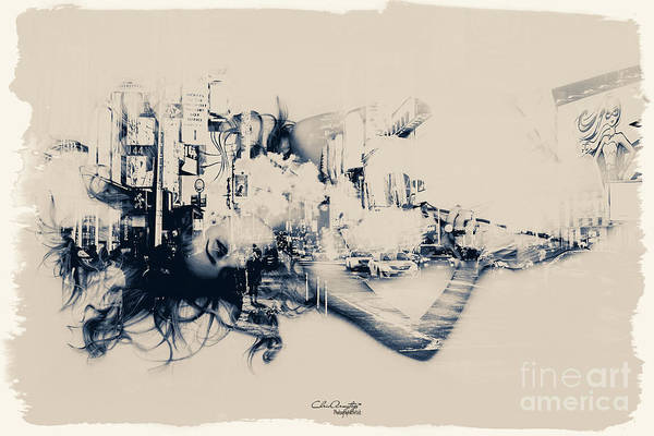 Digital Art - City Girl Dreaming by Chris Armytage