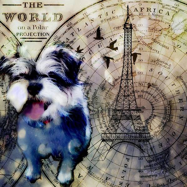 Digital Art - City Girl Goes To Paris by Delight Worthyn