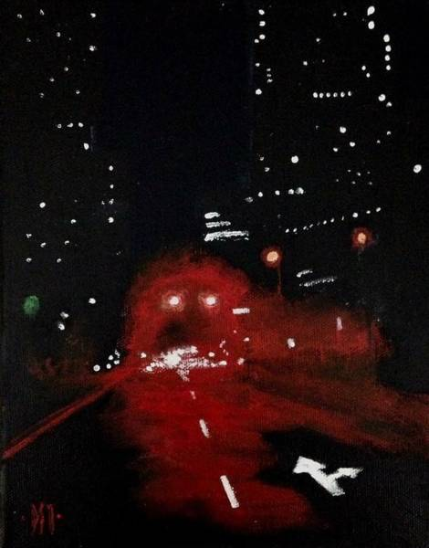 Traffic Signals Painting - City Glow by DST Fine Art