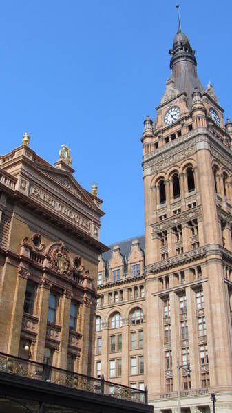 Photograph - City Hall And Pabst Theater by Anita Burgermeister