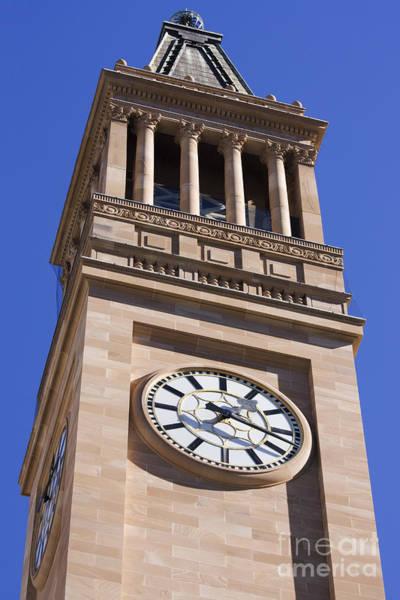 Cityhall Photograph - City Hall Clock Tower by Jorgo Photography - Wall Art Gallery