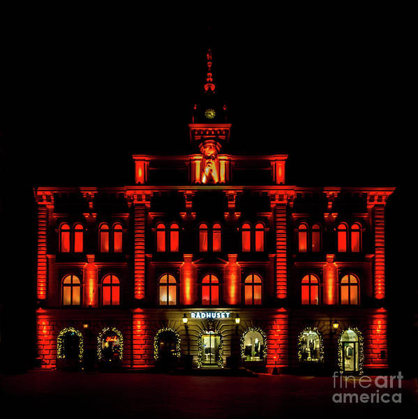 Photograph - City Hall In Uppsala by Torbjorn Swenelius