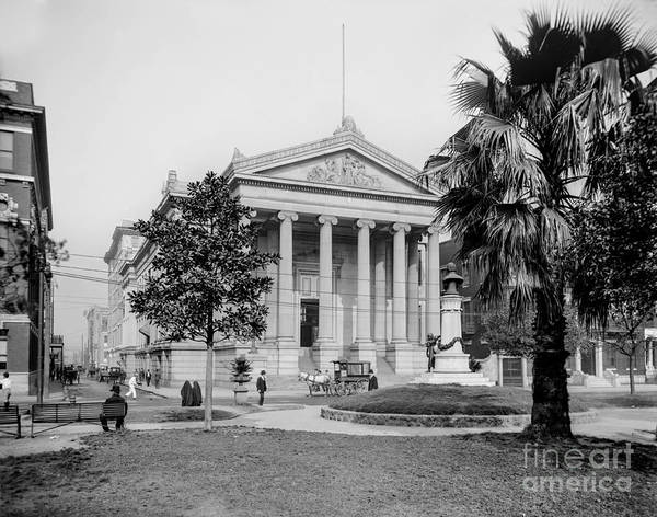 Park Avenue Photograph - City Hall  Lafayette Square, New Orleans 1890 by Jon Neidert