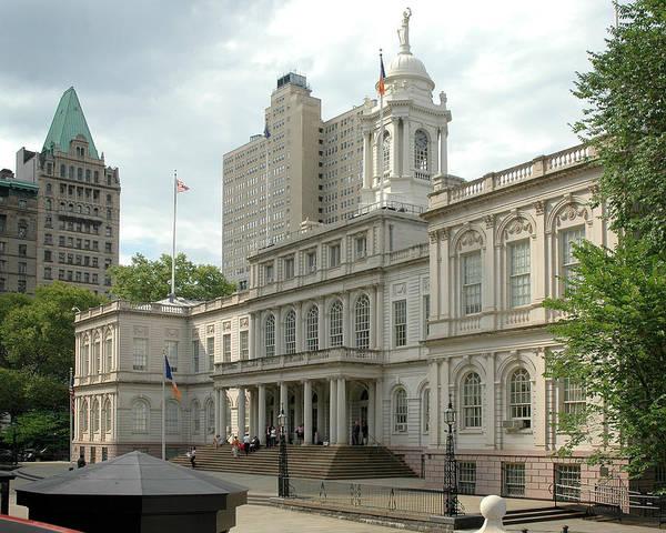Photograph - City Hall Manhattan by Frank Mari