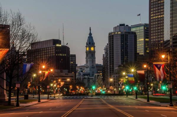 Photograph - City Hall Philadelphia - Benjamin Franklin Parkway by Bill Cannon