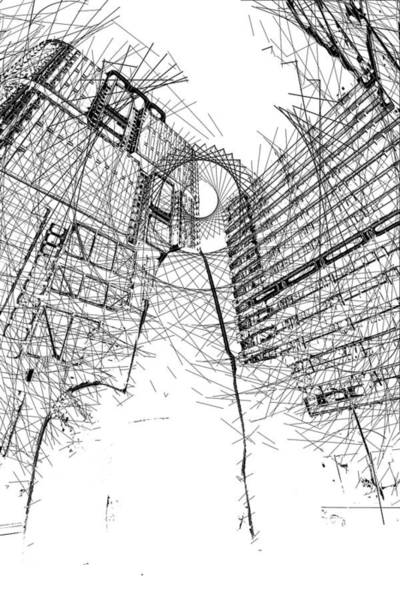 Filter Forge Photograph - City Hatching by Andrei SKY