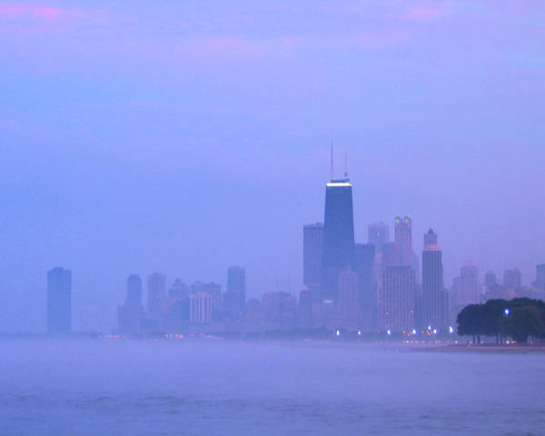 Photograph - City In Purple by Laura Kinker