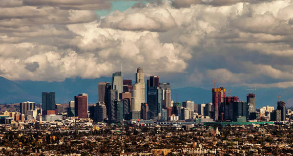 Los Angeles Skyline Photograph - City In The Clouds by April Reppucci