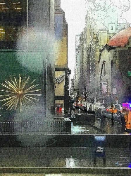 Digital Art - City In The Rain by Gina Harrison