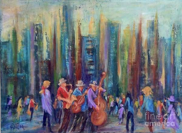 Sax Painting - City Jazz by Csilla Florida
