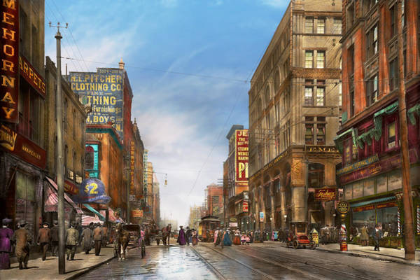 Wall Art - Photograph - City - Kansas City Mo - Commerce From The Past 1906 by Mike Savad