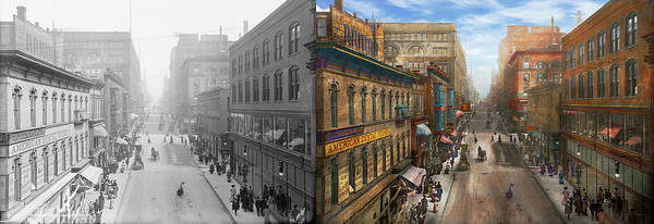 Clothier Photograph - City - Kansas City Mo - Petticoat Lane 1906 - Side By Side by Mike Savad