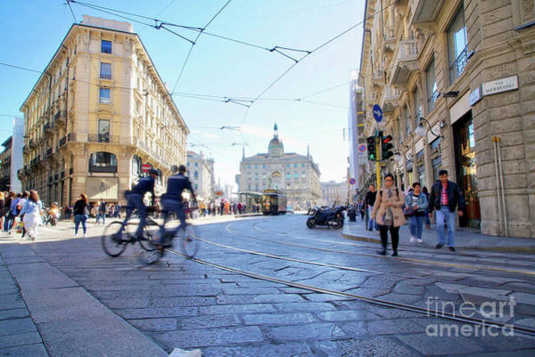 Wall Art - Photograph - City Life In Milan by DAC Photo