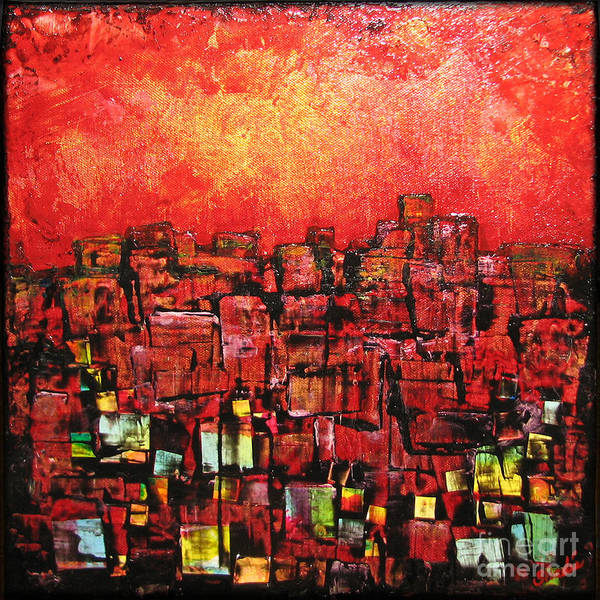 Wall Art - Painting - City Lights by Shadia Derbyshire