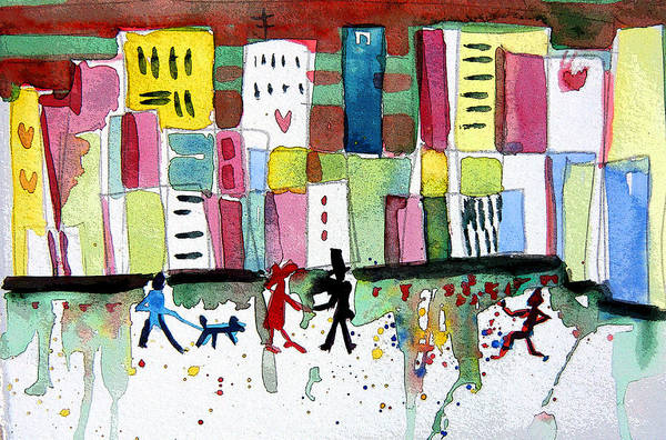 Wall Art - Painting - City Love by Mindy Newman