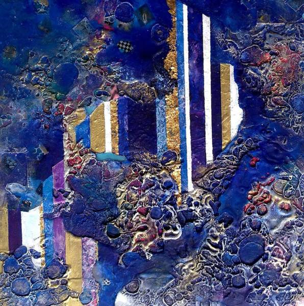 Columns Mixed Media - City Mirage by Lynda Stevens
