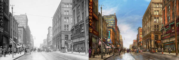 Wall Art - Photograph - City - Missouri - Commerce From The Past 1906 - Side By Side by Mike Savad