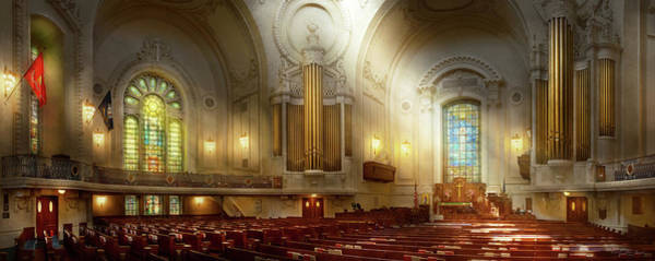 Photograph - City - Naval Academy - The Chapel by Mike Savad