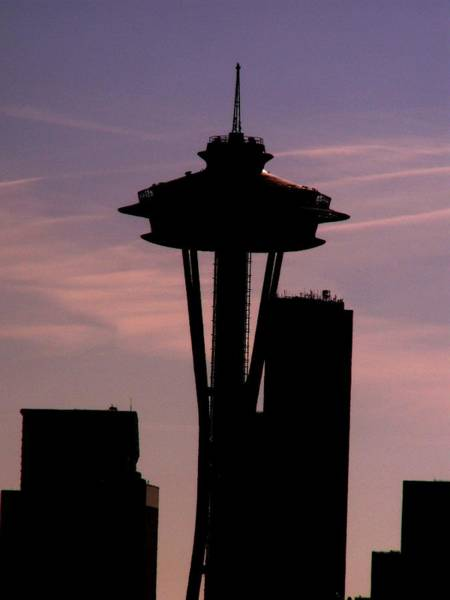 Seattle Digital Art - City Needle by Tim Allen