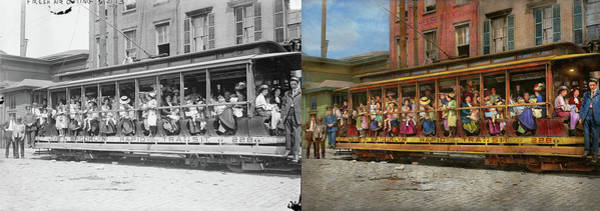Photograph - City - New York - Fresh Air Outing 1913  - Side By Side by Mike Savad