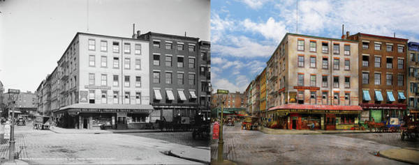 Photograph - City - New York Ny - Fraunce's Tavern 1890 - Side By Side by Mike Savad