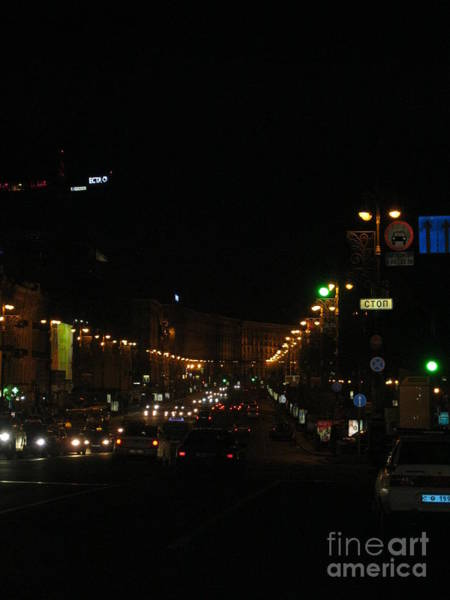 Painting - City Night. Kyiv. Ukraine by Oksana Semenchenko
