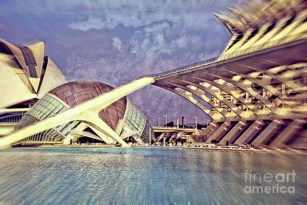Wall Art - Photograph - City Of Arts And Sciences - Vintage by Mary Machare