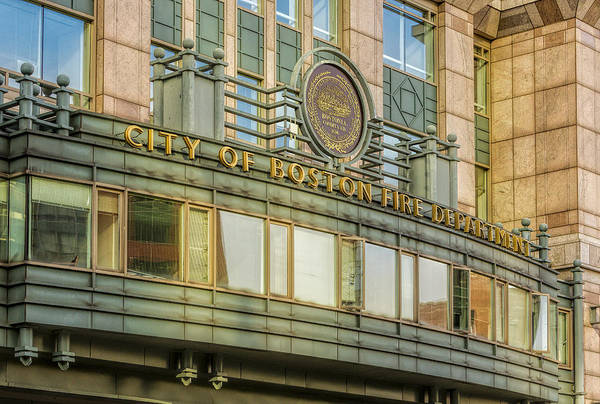 Photograph - City Of Boston Fire Department by Susan Candelario