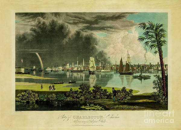 Photograph - City Of Charleston Looking Across Cooper River In 1838 by Dale Powell