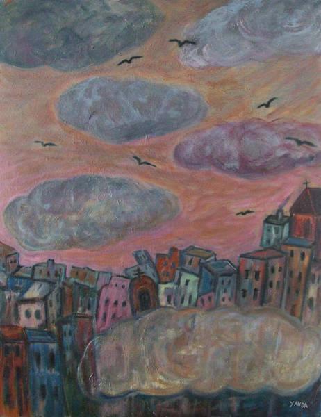 Painting - City Of Clouds by Katt Yanda