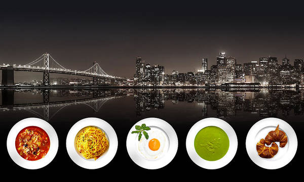 Digital Art - City Of Cultural Cuisines by ISAW Company